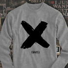 X Canceled Fashion Bold Retro Asap Hipster army Mens Gray Long Sleeve T-Shirt