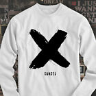 X Canceled Fashion Bold Retro Asap Hipster army Mens White Long Sleeve T-Shirt