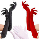 Satin Long Gloves Opera Wedding Bridal Evening Party Costume Gloves Multi-Color