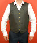Iron Horse Genuine Leather Waistcoat Sleeveless Motorcycle Vest NEW RRP £44.99
