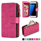 Leather Removable Wallet Flip Card Phone Case Cover For Samsung Galaxy S8 / S7
