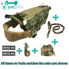 PetPets Tactical K9 Pack Military Service Dog Molle Vest Harness Police USA