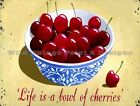 RETRO METAL PLAQUE :Life is a Bowl of cherries sign/ad