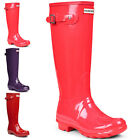 Womens Hunter Original Tall Gloss Rain Boots Winter Festival Wellingtons UK 3-8