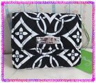 VERA BRADLEY PETITE TRIFOLD Compact WALLET Black Concerto U Choose Pattern Nwtag