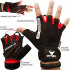 WyoX Sports Half Finger Cycling Bicycle Gloves Shockproof GEL Padded Red Unisex
