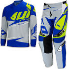 "UFO 2017 Revolt Race Kit MX ENDURO Pants 28"" Jersey Medium Combo Grey Blue"