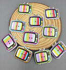 DIY Wooden Buttons Sewing crafts television shape decoration Scrapbooking 25mm