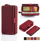 Removable Luxury Flip Leather Zipper Wallet Card Case For Samsung Galaxy S7 Edge