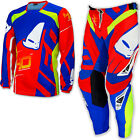 "UFO 2017 40th Anniversary Race Kit MX ENDURO Pants 34"" Jersey Large Red Blue"