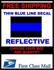 THIN BLUE LINE Decals Stickers FOP Police PBA Trooper REFLECTIVE