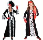 GIRLS - Halloween - Cruella Deville / Evil Queen - Ages 6 - 14  !