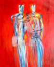 Original abstract art print - Friends by Troy Caperton