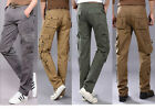 Mens Outdoor Multi Pockets Casual Loose Functional Long Cargo Pants Trousers