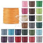 80m/Roll Round Waxed Cotton Cord String DIY Jewellery Bracelet 0.5/1/1.5/2mm