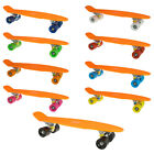 22 DIY Plastic Complete Mini Cruiser Skateboard Orange deck Multi color Wheels