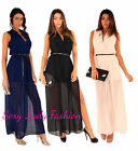 Womens Wrap Party Evening Cocktail Prom Chiffon Long Maxi Dress