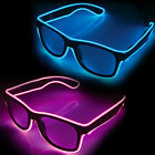 LED Fun Glasses - EL Wire, electroluminescent, party, blue, pink, accessories