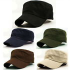 Vintage Army Military Cadet Style Cotton Cap Top Chic Adjustable Hat Women Men