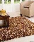 Supersoft Thick Brown Shaggy Flair Rugs Fondant Truffle Brown Mix