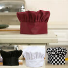 1Pc Cook Adjustable Men Kitchen Baker Chef Elastic Cap Hat Catering Comfortable