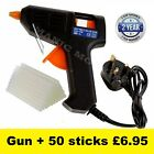 10W Mini Glue Gun Electric Trigger Adhesive Hobby Craft DIY 50 FREE Glue sticks