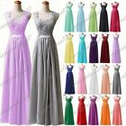 Long Chiffon Wedding Lace Formal Evening Party Ball Gown Prom Bridesmaid Dresses