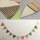 Colourful Hessian Flags Bunting Banner Jute Garlands Wedding Birthday Party