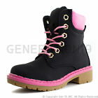 Link Youth Girls Combat Ankle Fashion Boots Booties Shoes (Youth 11-4)
