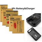 1Pc Extended Li-ion Rechargeab Battery+Wall Charger For LG G3 G4 V10 HTC G11 G12