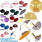 NEW DESIGNS UMBRELLA ULTRA DURABLE DELUXE STRONG WINDPROOF LADIES STRAIGHT DOME