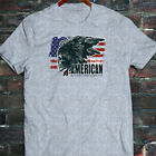 Native American America Flag Freedom Proud Indian Mens Gray T-Shirt