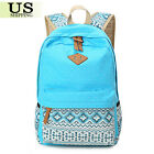 Women's Backpack School Book Bags Satchel Shoulder Rucksack Canvas Travel Bag US