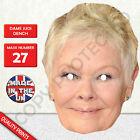 Dame Judi Dench Celebrity Card Mask - Fun For James Bond Parties