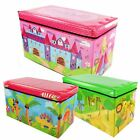 'Kids Childrens Large Storage Toy Box Boys Girls Books Chest Clothes Seat Stool