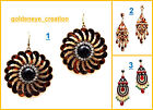 Choose Any Funcky Western Bollywood Hanging U Hook Earring-Dipawali Sale-10