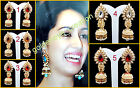 Choose Any Color Off-White Pearl Golden Tone Bollywood Ashiqui2 Jhumka Earring-2