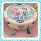"Edible Disney FROZEN ELSA Icing 7.5"" Cake topper & Extra's Personalised Any Age"
