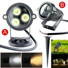 1/5/10pcs 9W Waterproof Outdoor LED Landscape Lawn Lamp Garden Spot Light +Rod