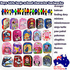 Kids character Backpack back pack bag school preschool bags lunch bag boys girls