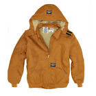Rasco FR Flame Resistant Brown Duck Quilted Hooded Jacket
