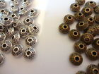 Nickel Free Tibetan Silver Bicone Saucer Beads 7mm x 4m -Antique Silver / bronze