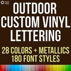Custom Vinyl Lettering Outdoor Decal Car Truck Boat Door Window Glass Sticker