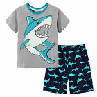Pyjamas Boys Summer Pjs Set (sz 3-7) Grey Shark Sz 3 4 5 6 7