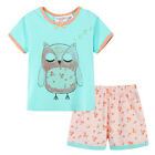 Pyjamas Baby Girls Summer Short 2 pc Pjs Set (sz 0-2) Mint Green Owl Sz 0 1 2
