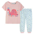 Pyjamas Baby Girls Summer Long 2 pc Pjs Set (sz 0-2) Pink Sleeping Dinosaur Sz 0