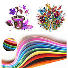 260 Stripes Quilling Paper 3/5/7/10mm Width Mixed Color For DIY Craft 26Color