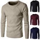 Men's Fashion Slim Fit Solid Color Warm Thicken Knitted Sweater Junmper Cardigan