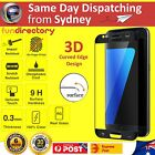 3D Curved Full Cover 9H Tempered Glass Screen Protector For Samsung Galaxy S7 BK