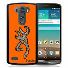 PERSONALIZED RUBBER CASE FOR LG G6 G5 G4 G3 ORANGE CAMO DEER HEAD COUNTRY